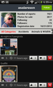 Clashot User Profile