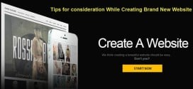 Tips for consideration While Creating Brand New Website