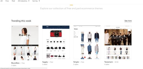 Choosing A Template For Your E-Commerce Website