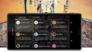 Sony Xperia Applications, Camera Options.